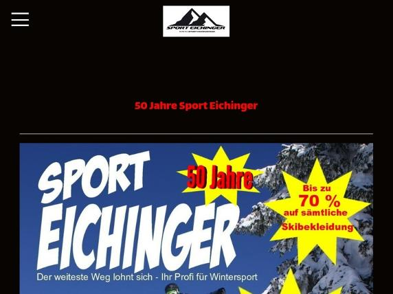 Screenshot von http://www.sport-eichinger.de